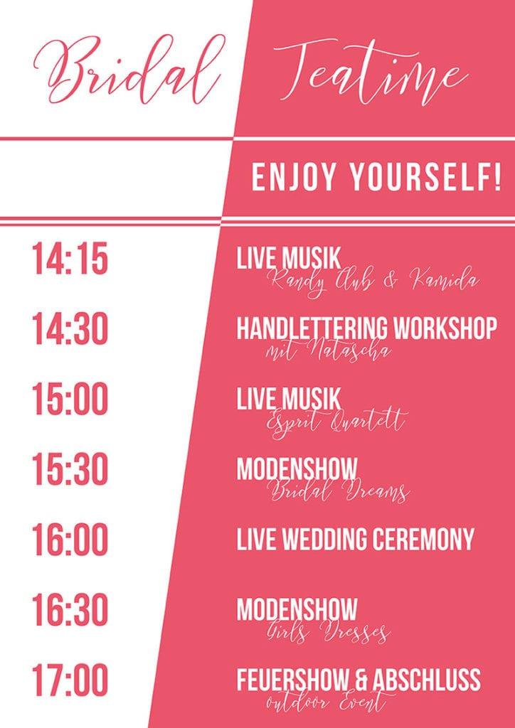 Programm Hochzeitsmesse Freiburg
